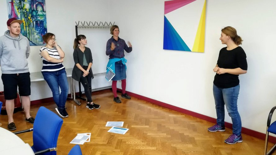 Hannu Sparwald, Chiara Dold, Sabrina Frieß, Svenja Brockmüller, Nadine Küßner, Antiziganismus, Workshop, PH Heidelberg