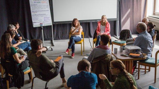 Barcamp, Rhein-Neckar, Heidelberg, Max Wetterauer, Valentin Bachem, Lizensiert unter CC-BY-SA 2.0