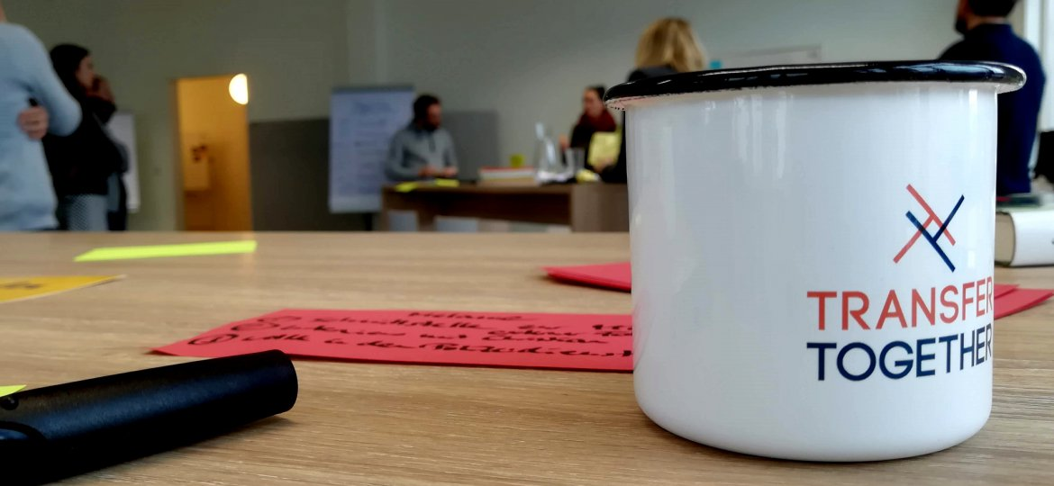 Workshop, PH Heidelberg, Transfer Together, Transferzentrum, Tasse, Logo