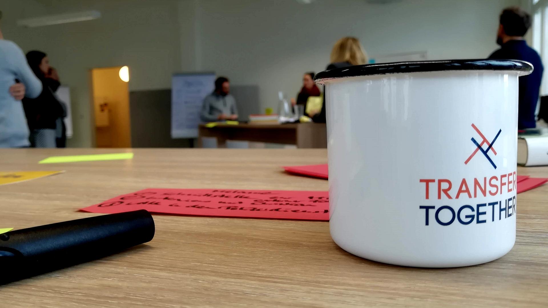 Workshop, PH Heidelberg, Transfer Together, Transferzentrum, Tasse, Logo