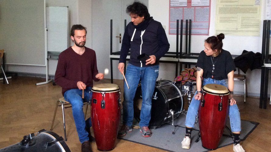 Percussion, Massimo Cusato, Kathrin Schweizer, PH Heidelberg, Musik, Kultur