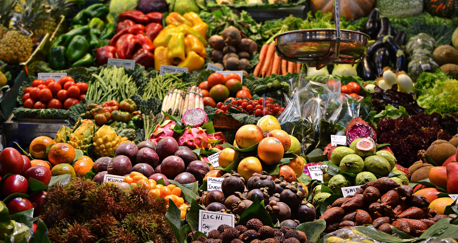 Markt, Früchte, Obst