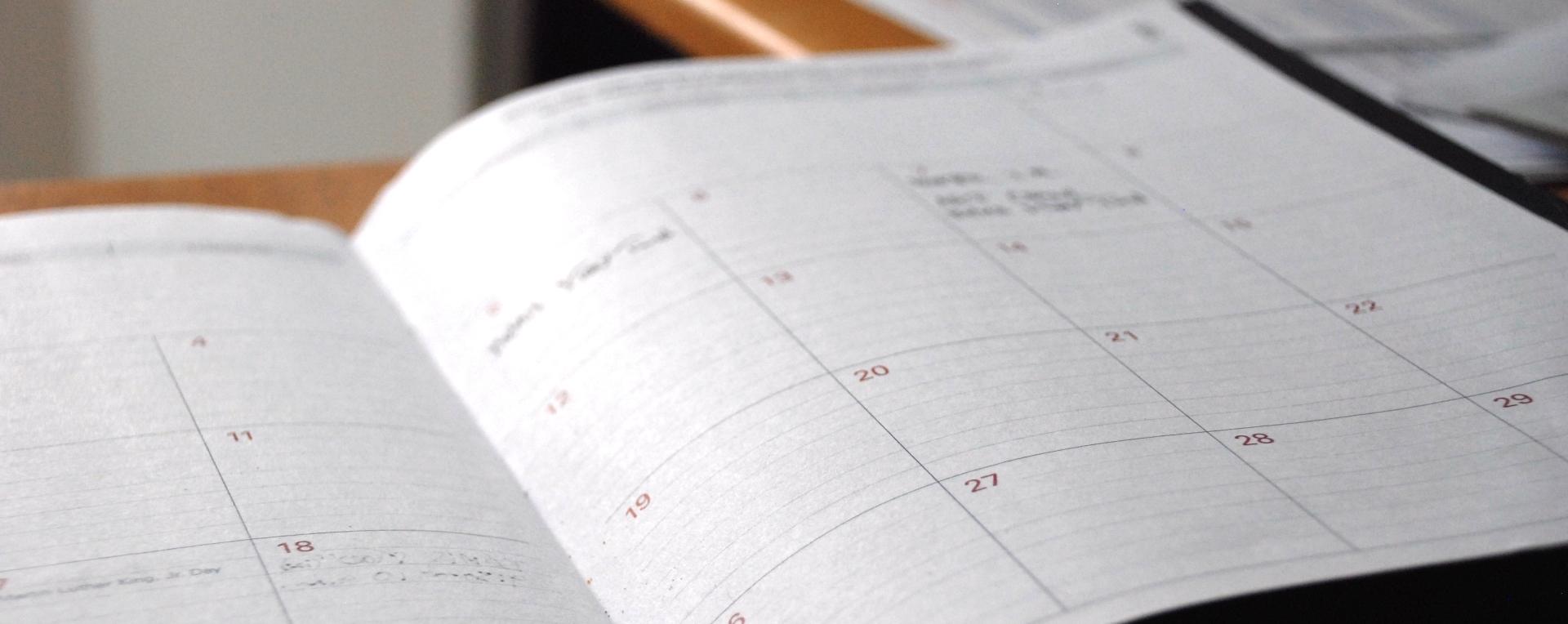 Kalendar, Events, unsplash.com, Eric Rothermel