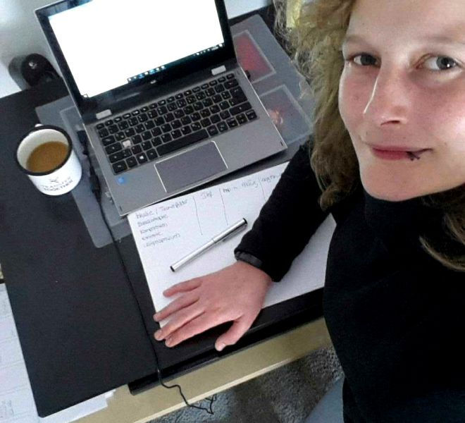 Home Office, Leicht bewegt, Transfer Togehter, Coronavirus, Laura Arndt
