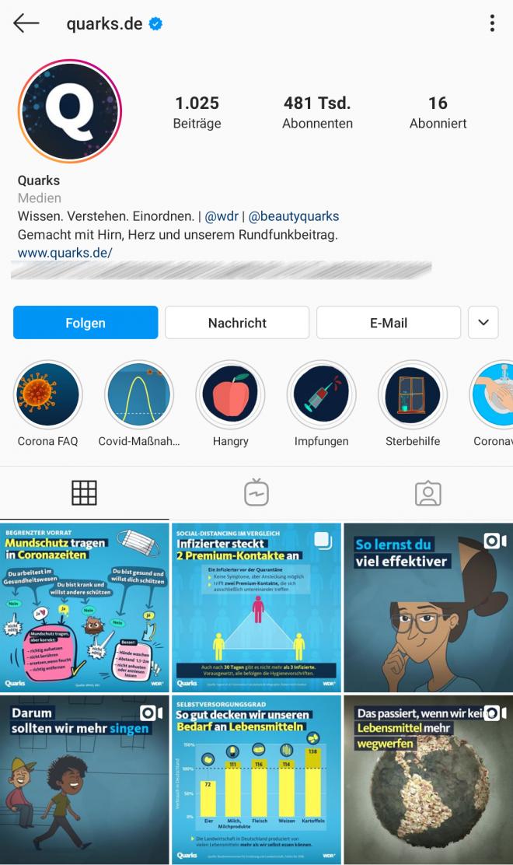 Instagram, @quarks.de